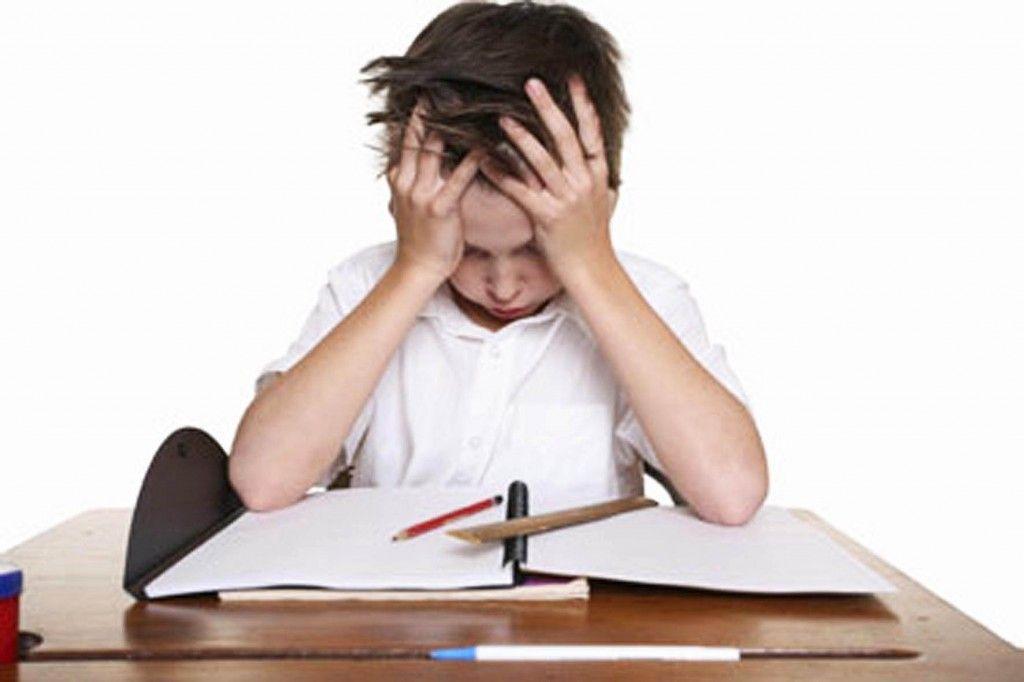 Dislexia infantil. Niño disléxico